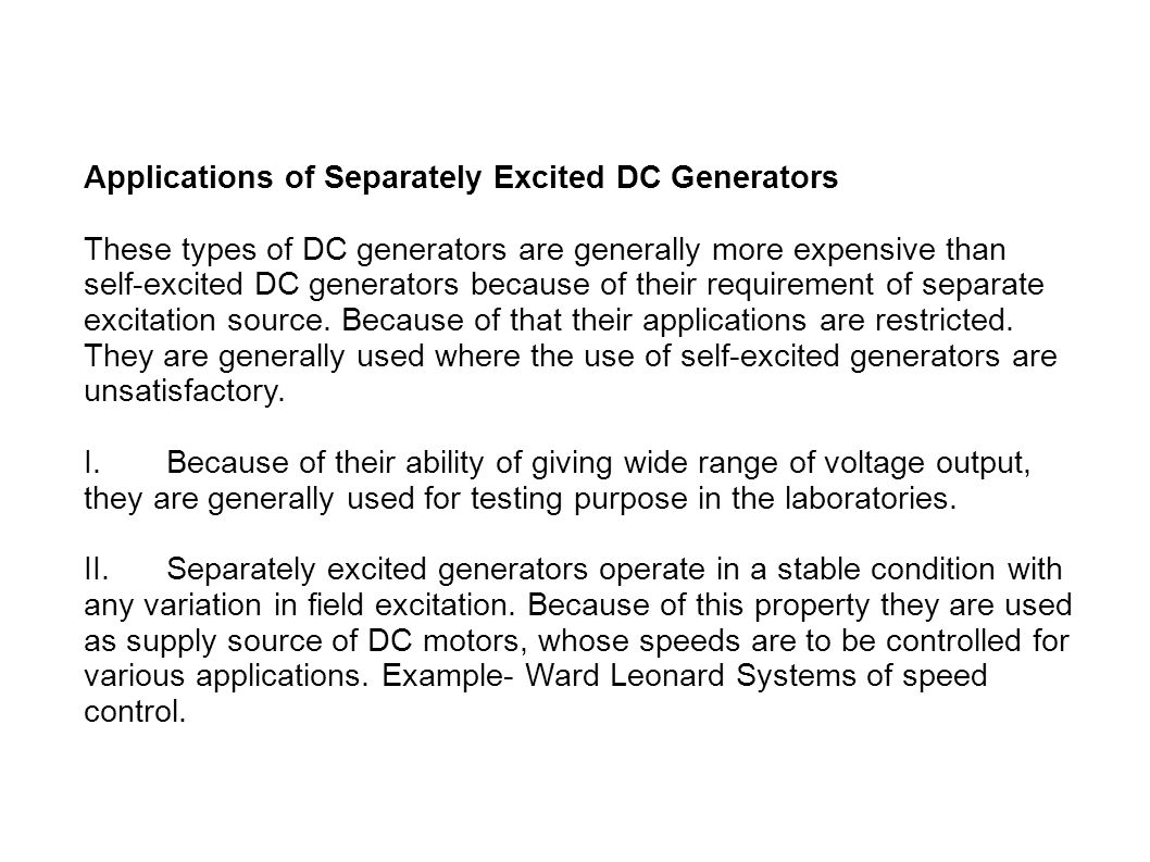 Electrical Machine Submitted By Riki Paul Ppt Download Types Of Dc Generators Applications Separately Excited