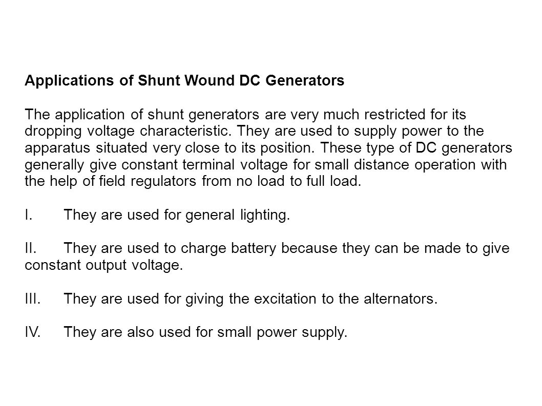 Electrical Machine Submitted By Riki Paul Ppt Download Types Of Dc Generators Applications Shunt Wound