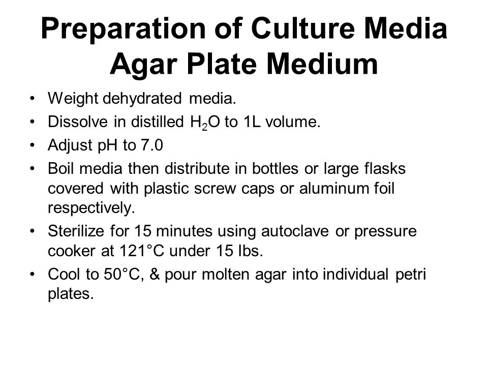 how to prepare agar solution