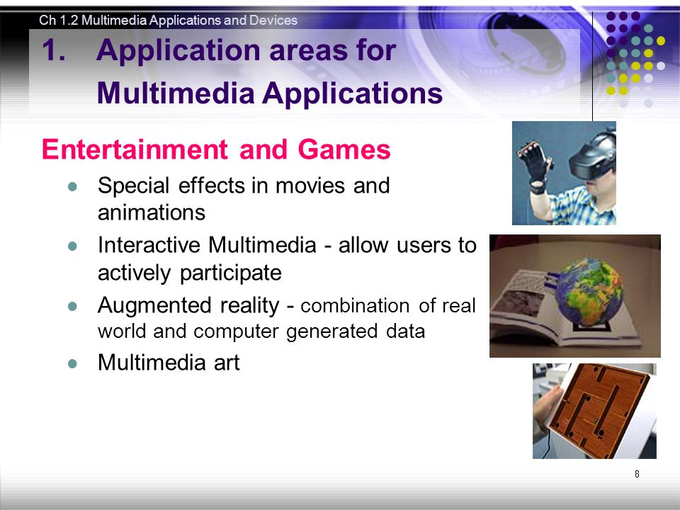 application areas of multimedia
