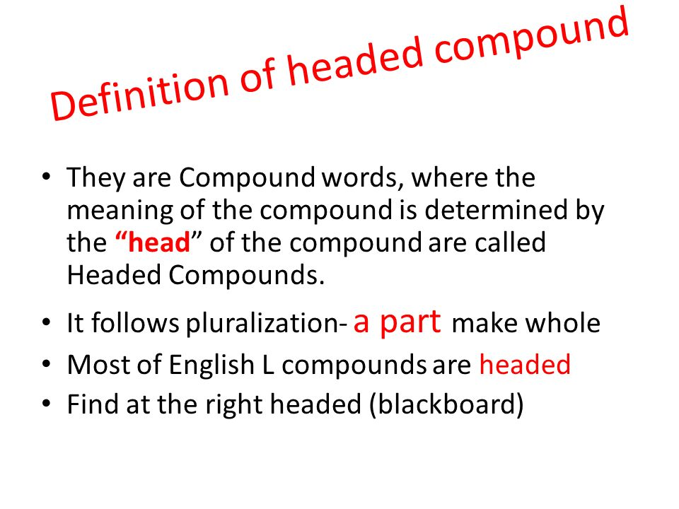 Blends Phrasal Words Compound Words 6.0 This unit is about: - ppt ...