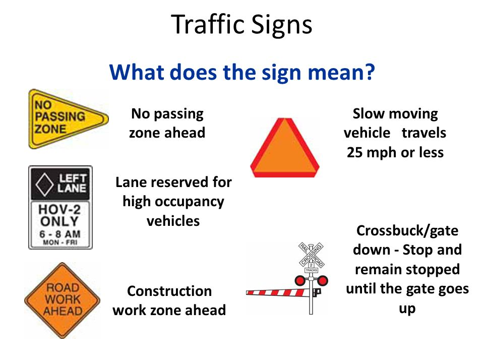 Orange what sign mean does an Road Signs