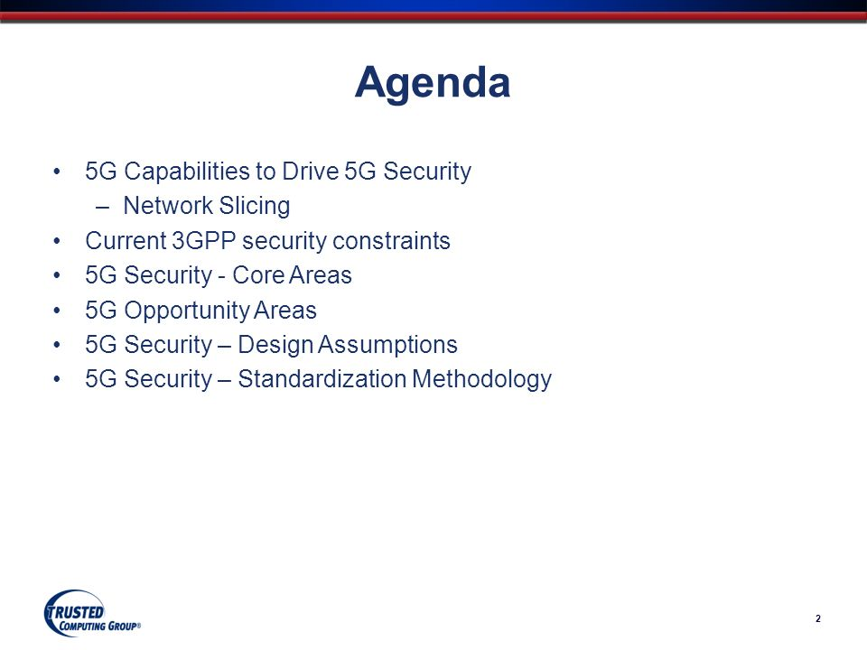 Agenda 5G Capabilities to Drive 5G Security Network Slicing - ppt