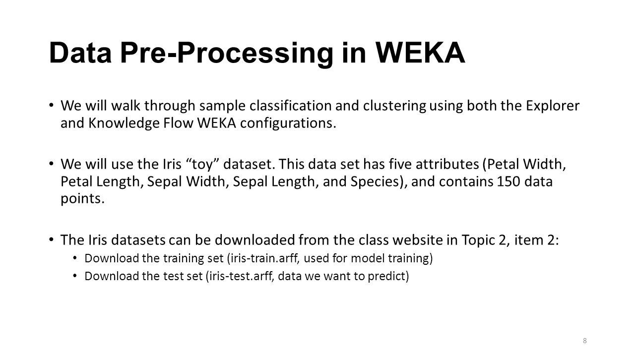WEKA, Mahout, and MLlib Overview - ppt download