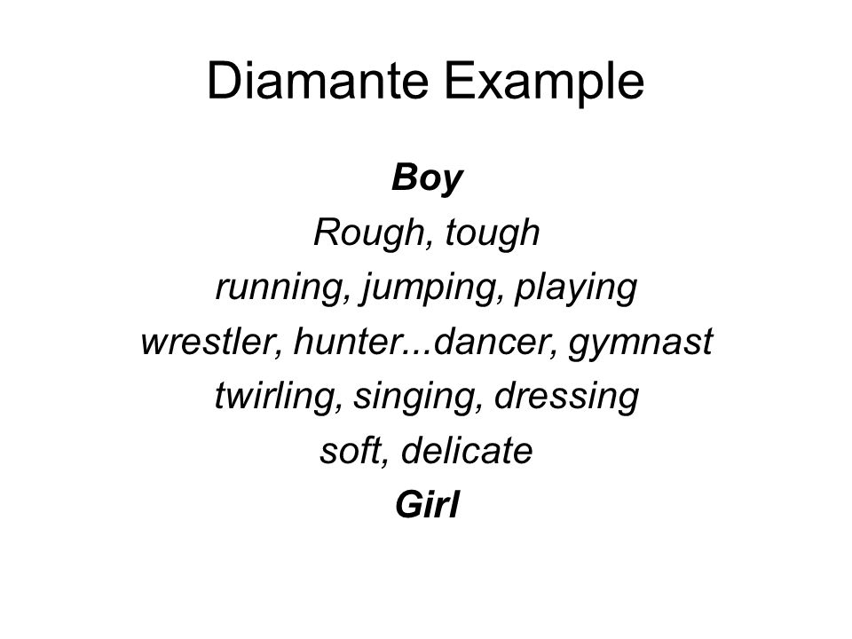 Diamante poem template and teacher example by catherine schweer | tpt.