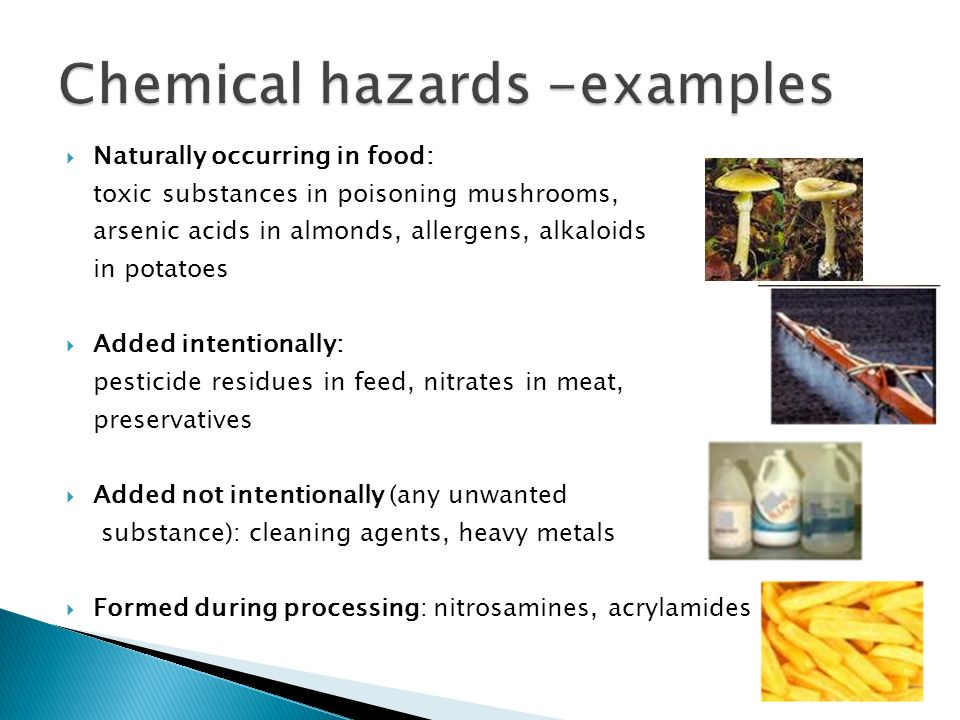 List Of Chemical Ingredients In Food