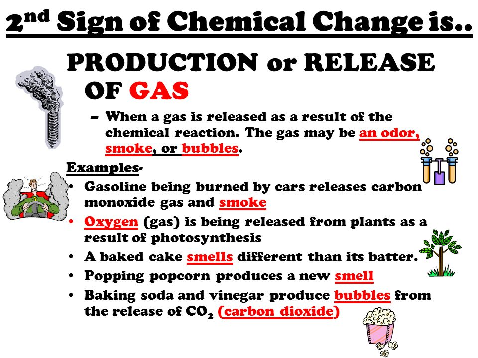 is burning gasoline a chemical change