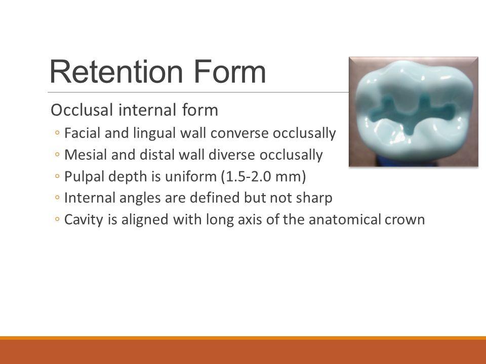 Class I Amalgam Preparations - ppt video online download