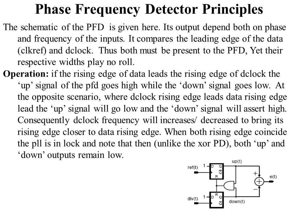 PLL Sub System3 Phase Frequency Detector (PFD) - ppt video