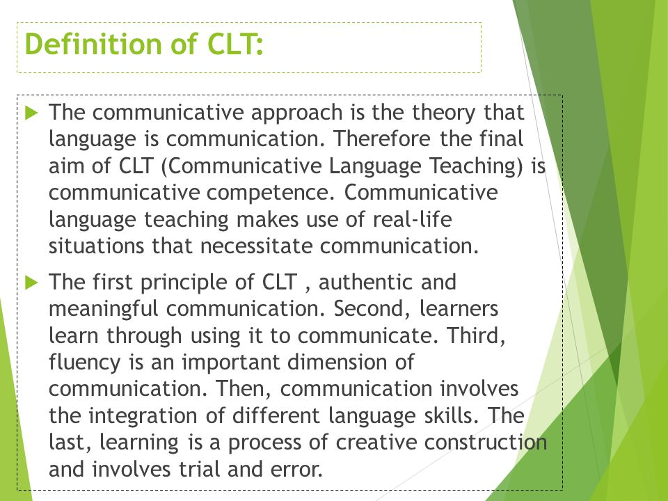 communicative approach