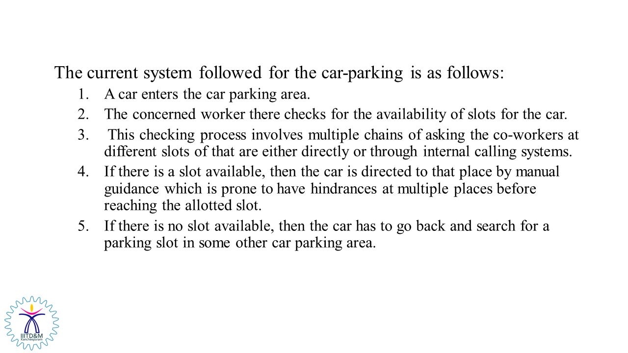Smart Car Parking System Ppt Video Online Download Block Diagram Of Vehicle The Current Followed For Is As Follows