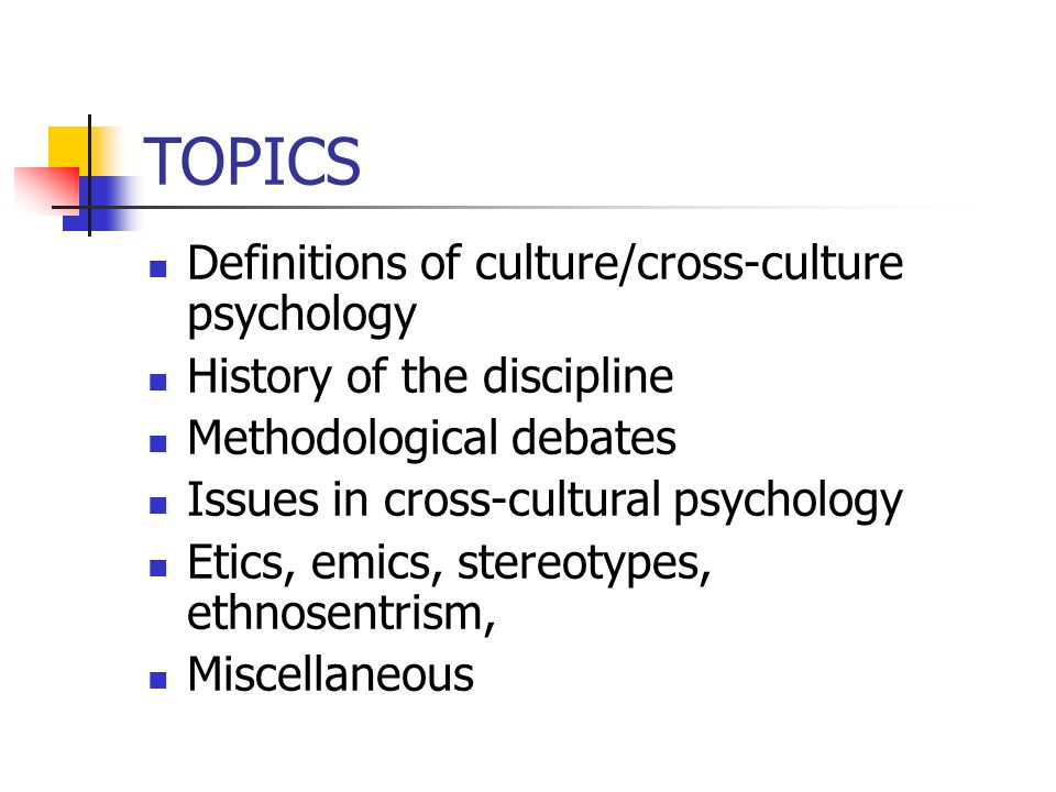 cultural psychology topics