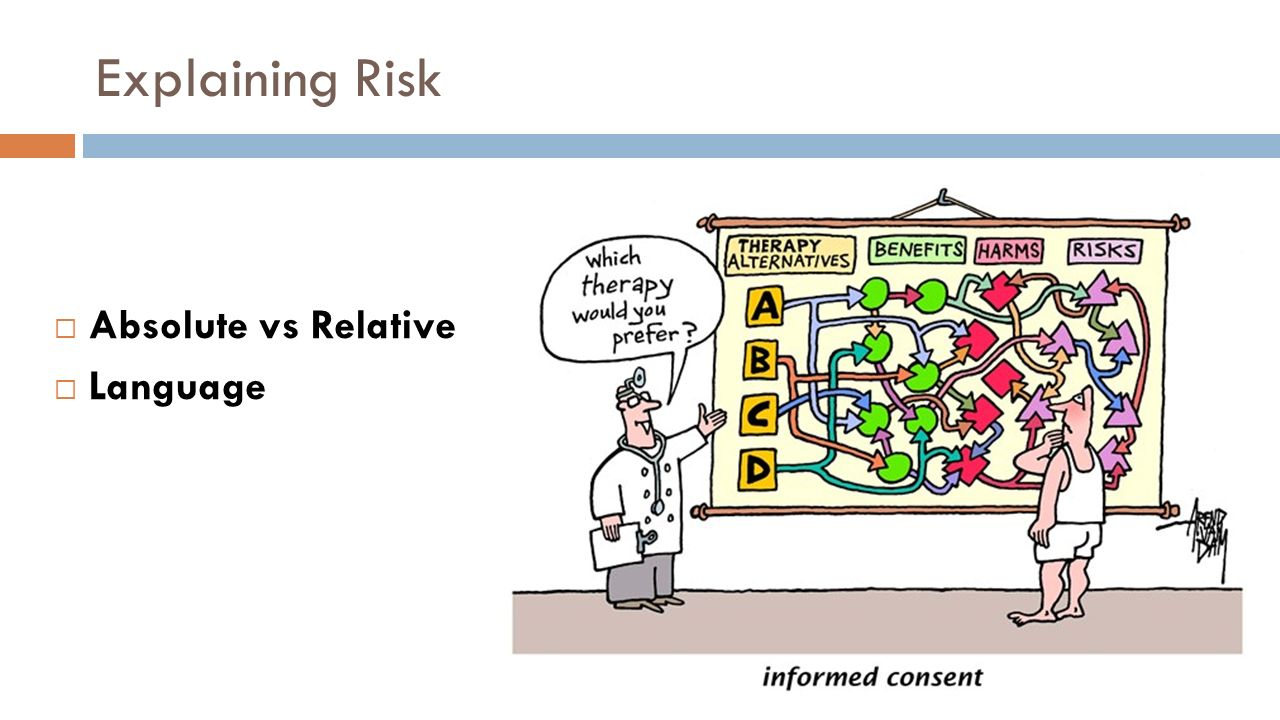 how to explain relative risk