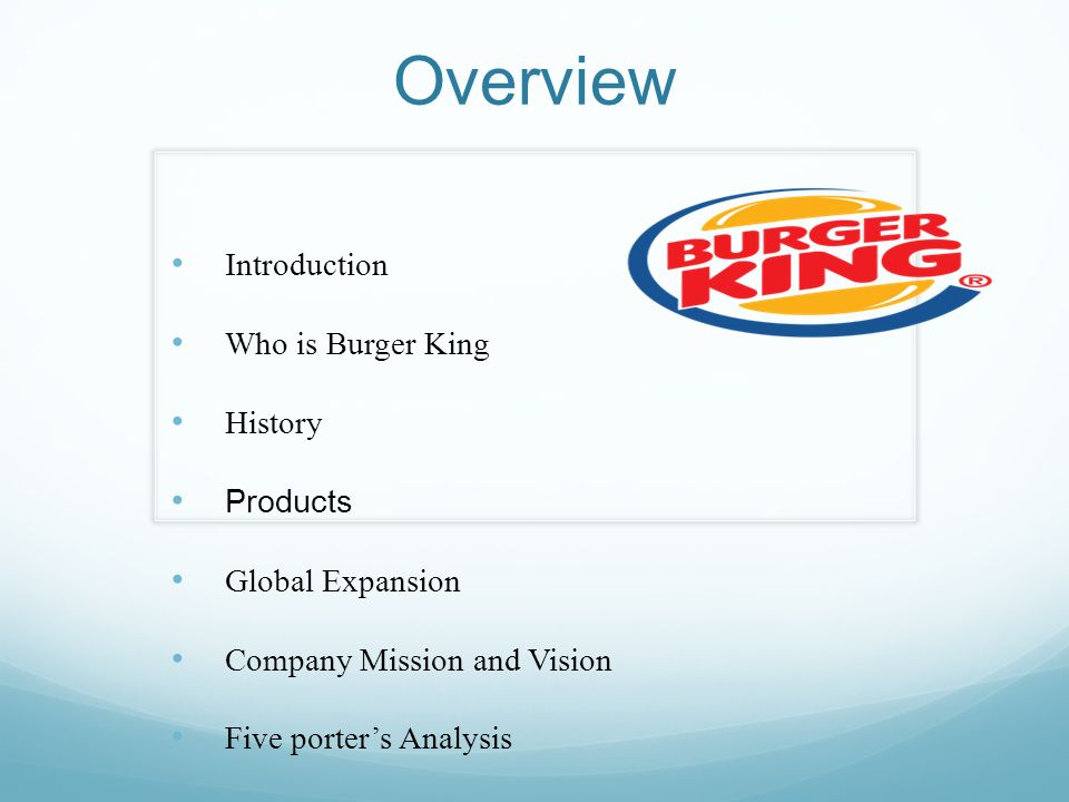 Global Fast Food Industry Overview