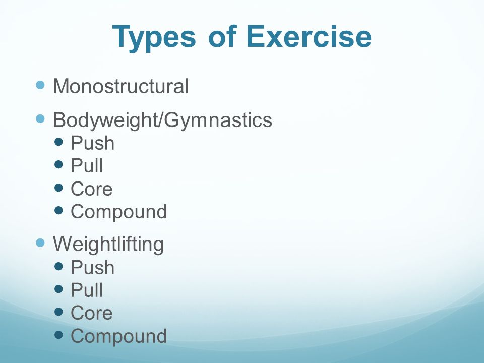 2 Types of Exercise ...