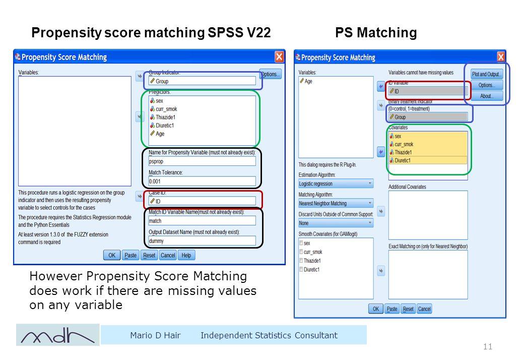 spss propensity score matching