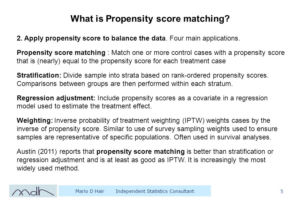 Propensity Score Matching in SPSS: How to turn an Audit into