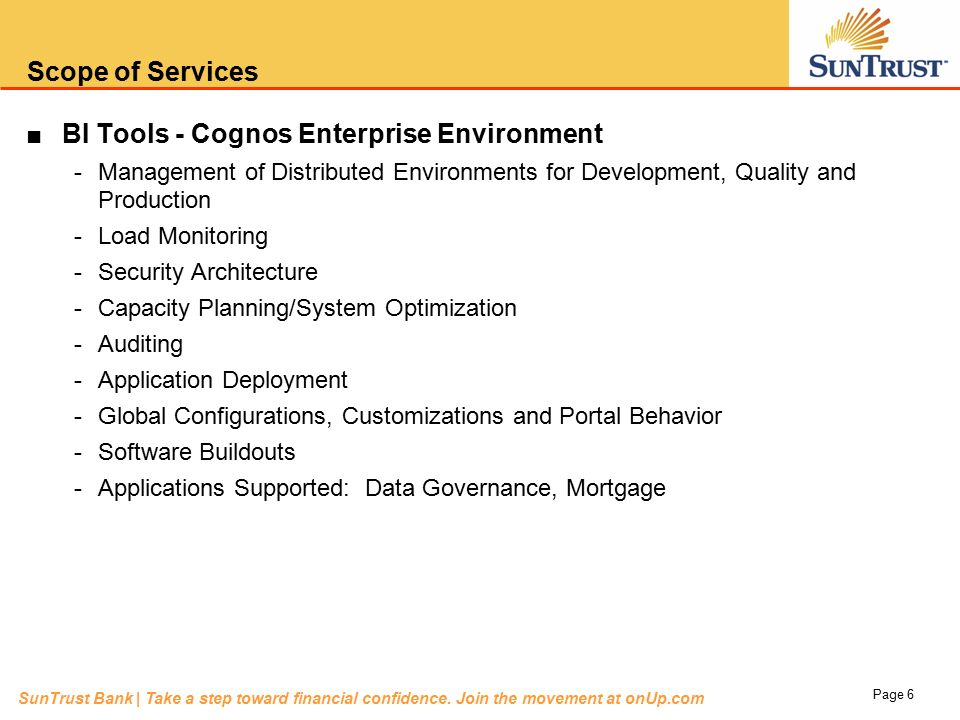Overview of the BI Tools – Enterprise CoE Scope of Services