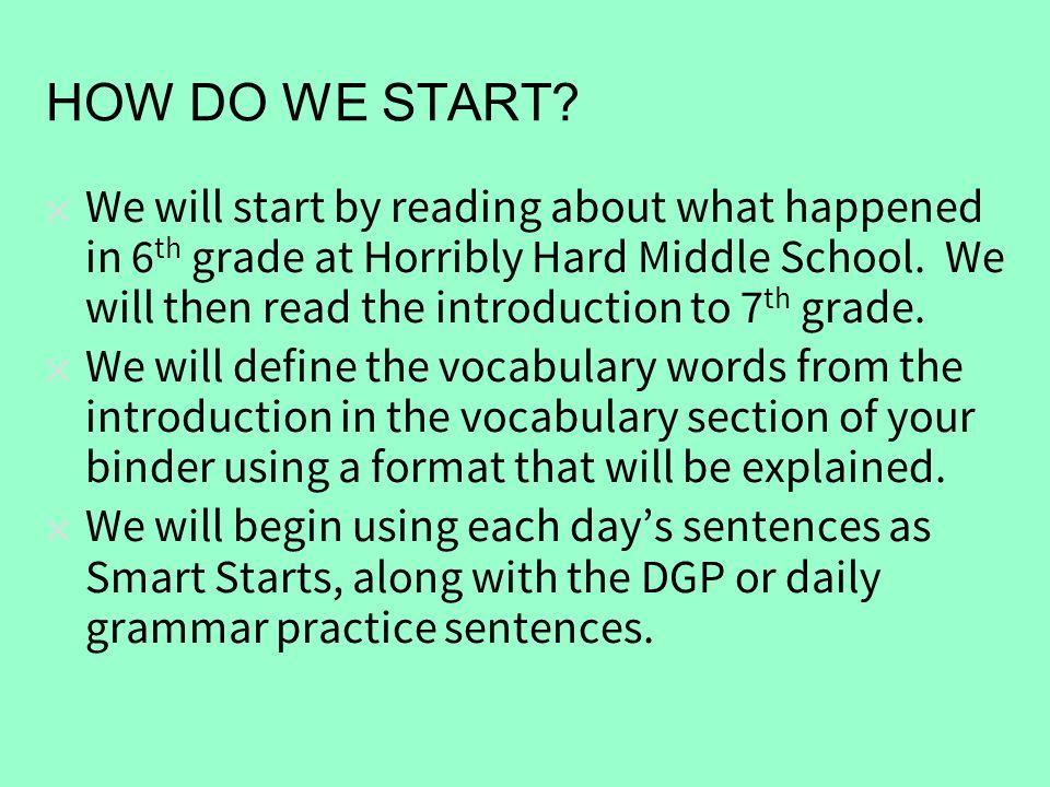 start starts grammar