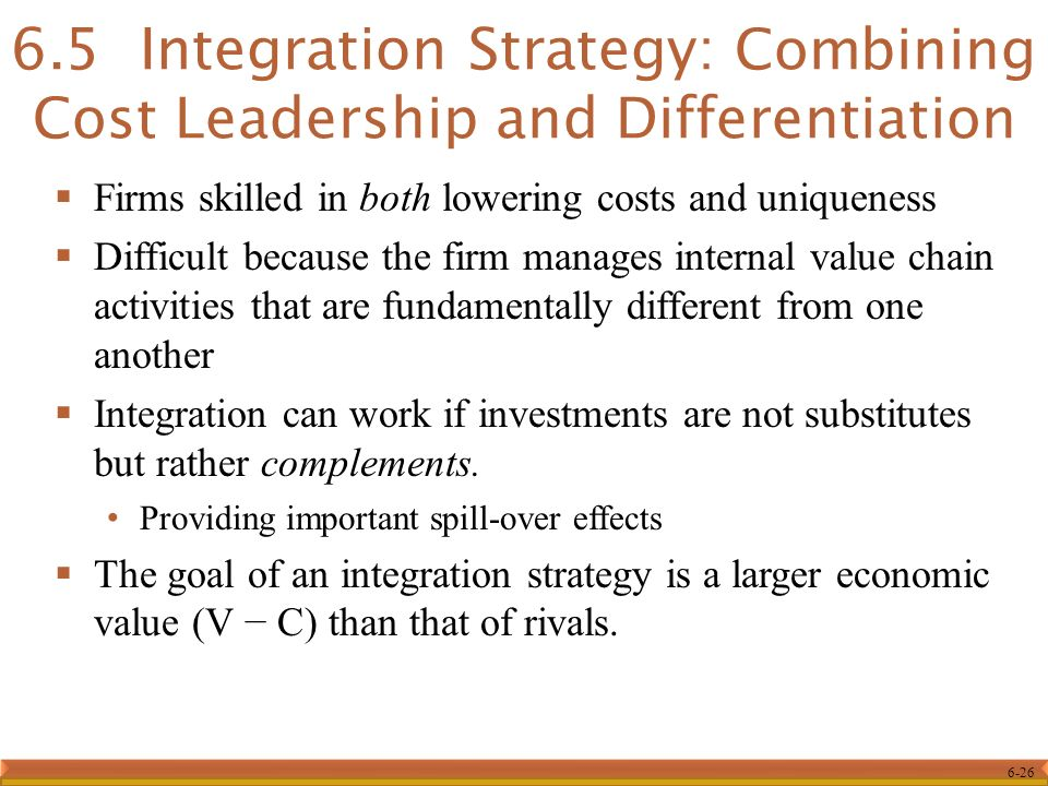 cost leadership and differentiation strategy
