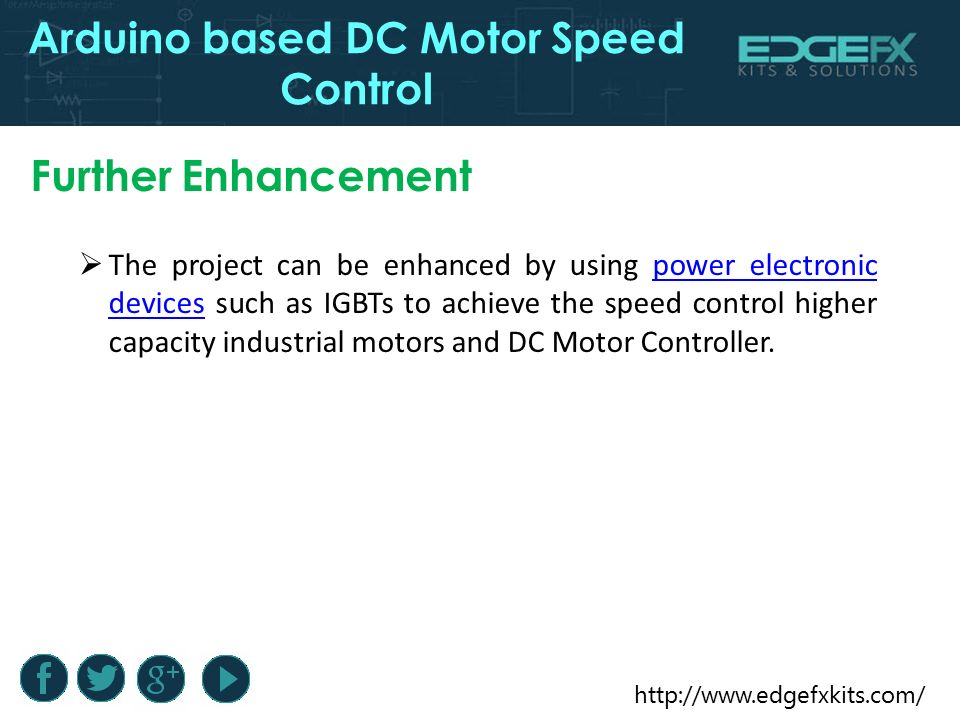 Arduino Based DC Motor Speed Control - ppt video online download