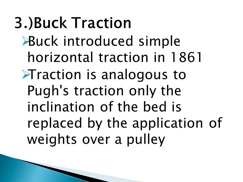 bucks traction weights hang freely