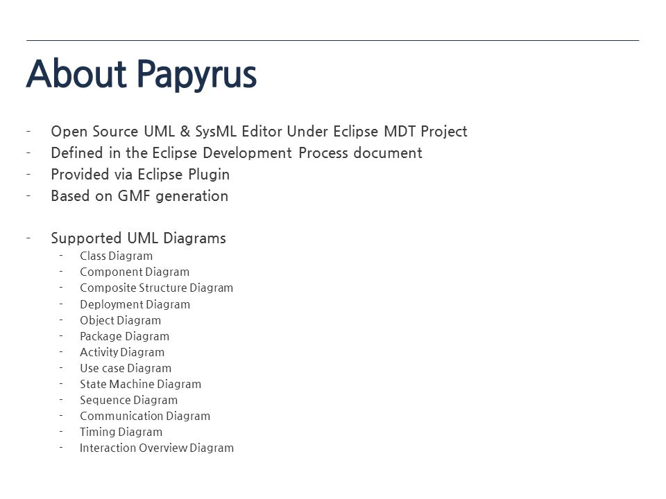 Papyrus tutorial csos ppt download about papyrus open source uml sysml editor under eclipse mdt project ccuart Gallery