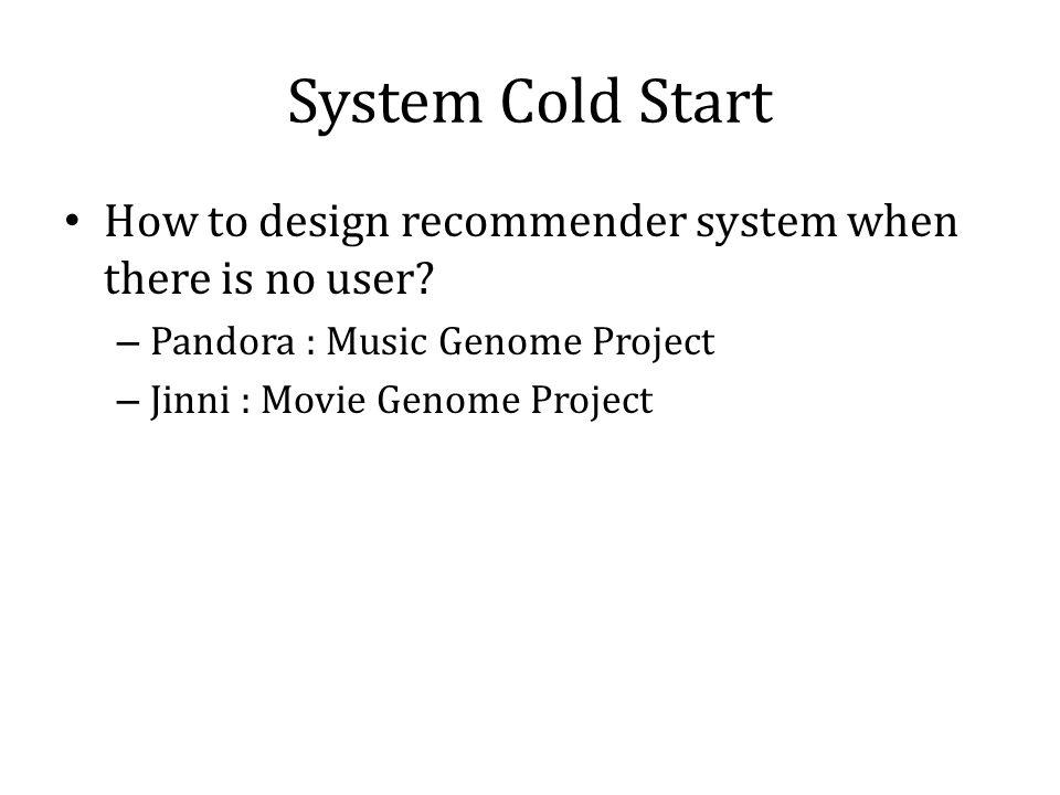 Recommender System: Algorithms & Architecture - ppt download