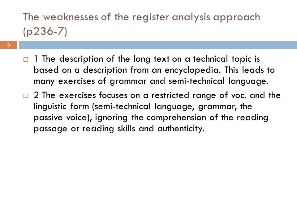 language analysis example