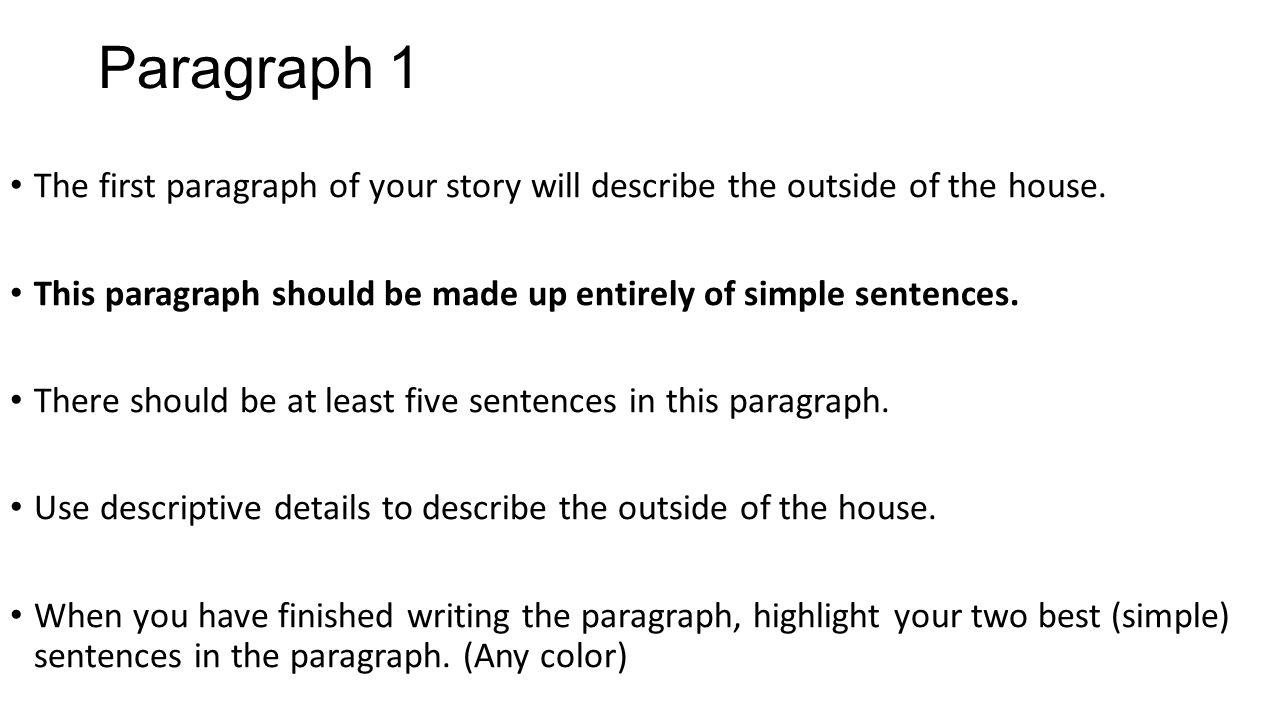 describe my room paragraph
