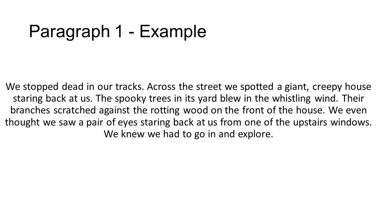 a descriptive paragraph about a haunted house