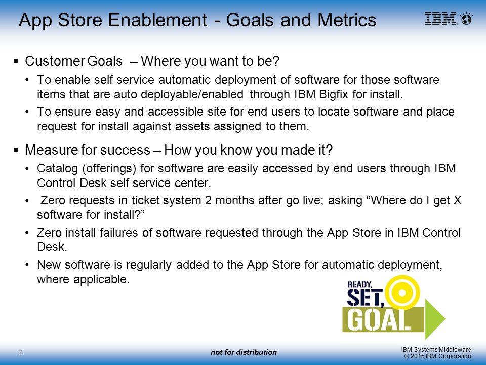 App Store Enablement   Goals And Metrics