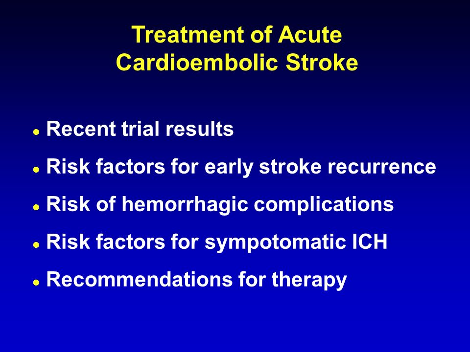 Cardioembolic Stroke: Diagnosis and Management - ppt video