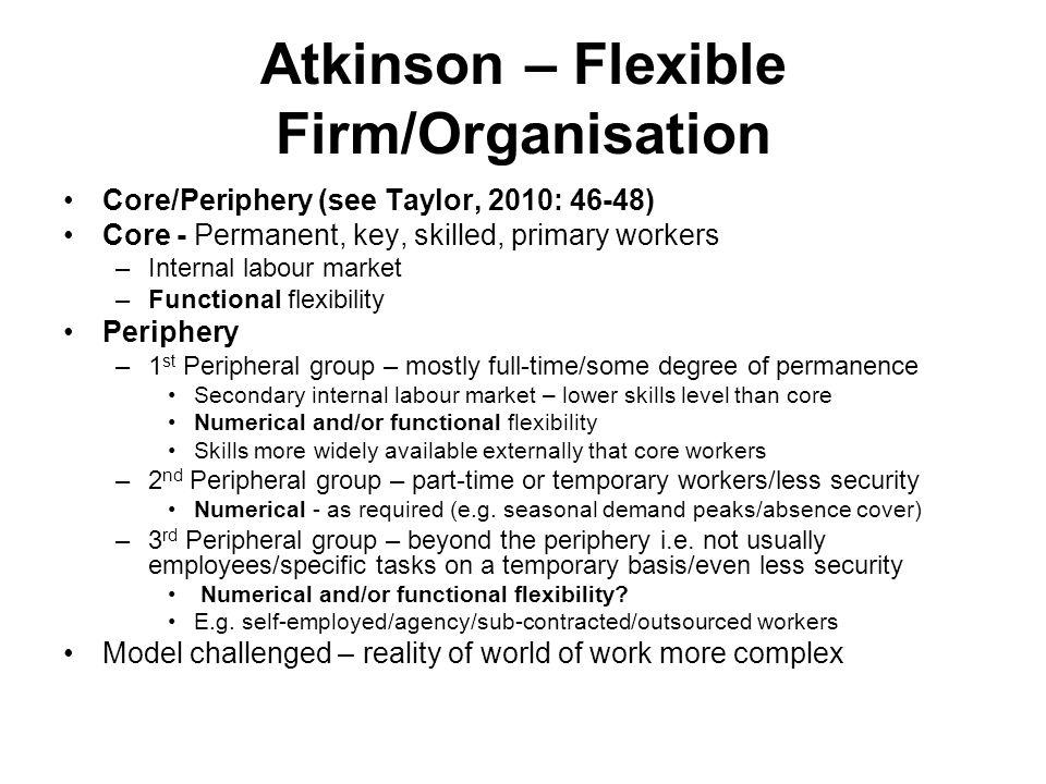 flexible firm model atkinson 1984
