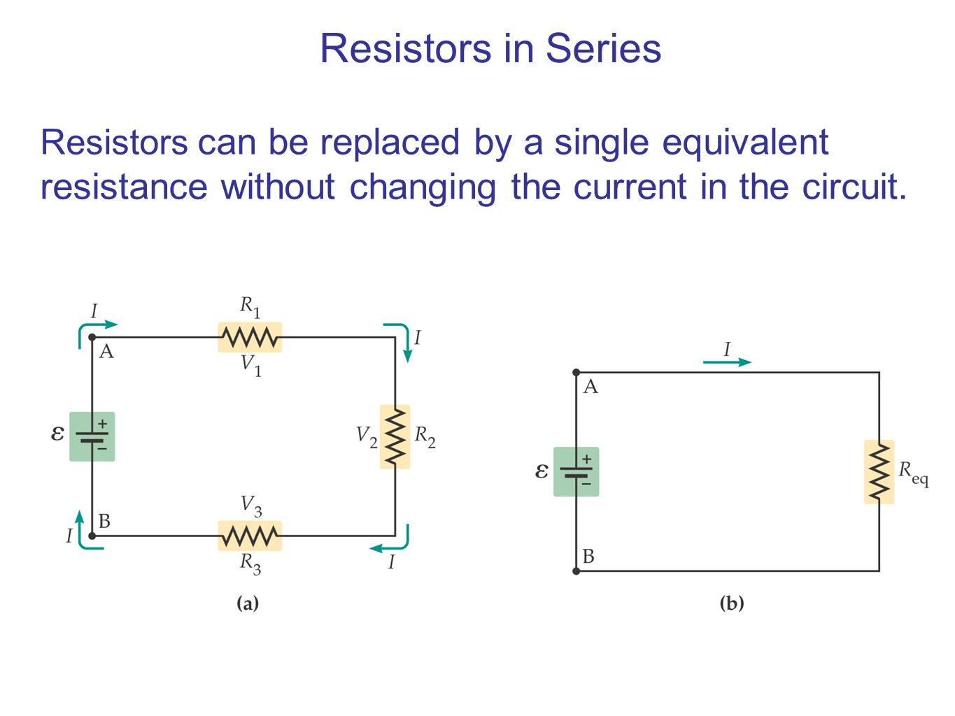 Series And Parallel Circuits Ppt Video Online Download Equivalent To Having One 4 Resistor In The Circuit 8 Resistors Can Be Replaced By A Single Resistance Without Changing Current