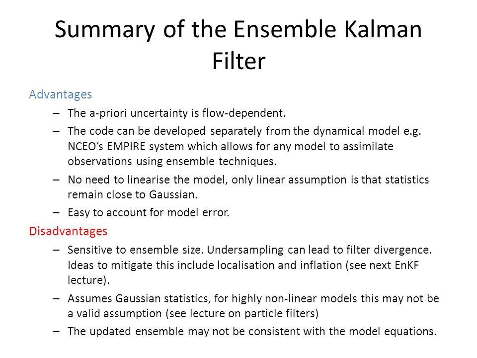 The Ensemble Kalman filter - ppt download