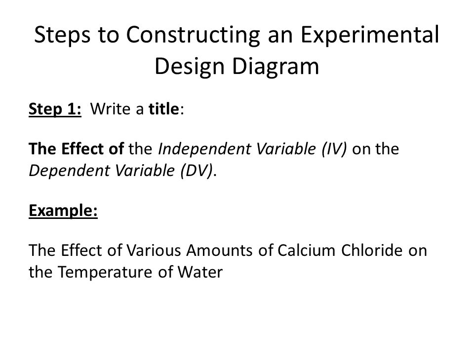 Experimental Design Diagram Ppt Video Online Download