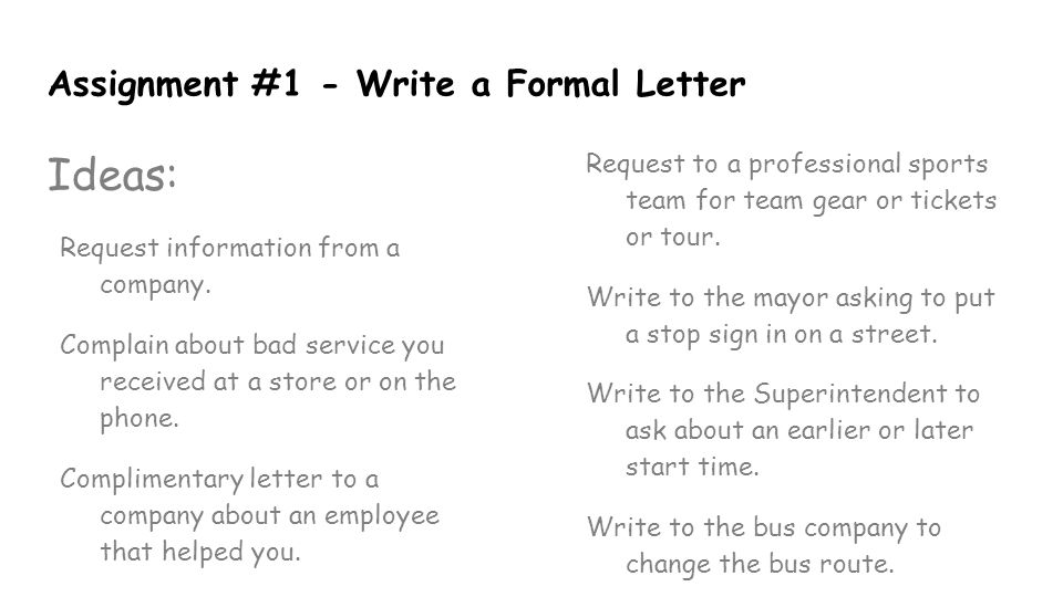 Letter writing ppt video online download assignment 1 write a formal letter spiritdancerdesigns Gallery