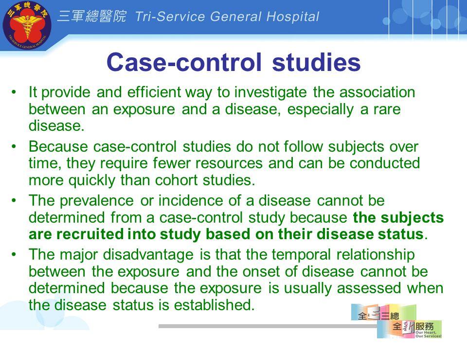 Advantages and Disadvantages of Case-Control Studies