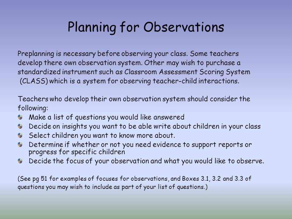 Module 3 Observation For Assessment Ppt Download