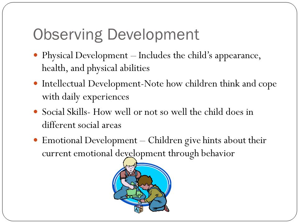 Introduction To Observation Observing Children A Tool For