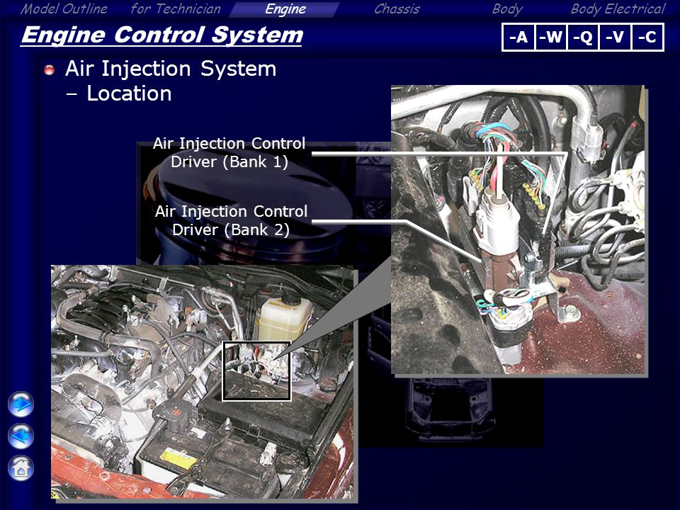 secondary air injection system air flow/pressure sensor circuit range/performance