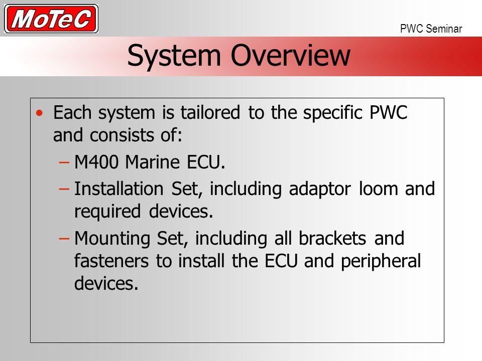Topics About MoTeC  ECU Basics  How to install MoTeC PWC