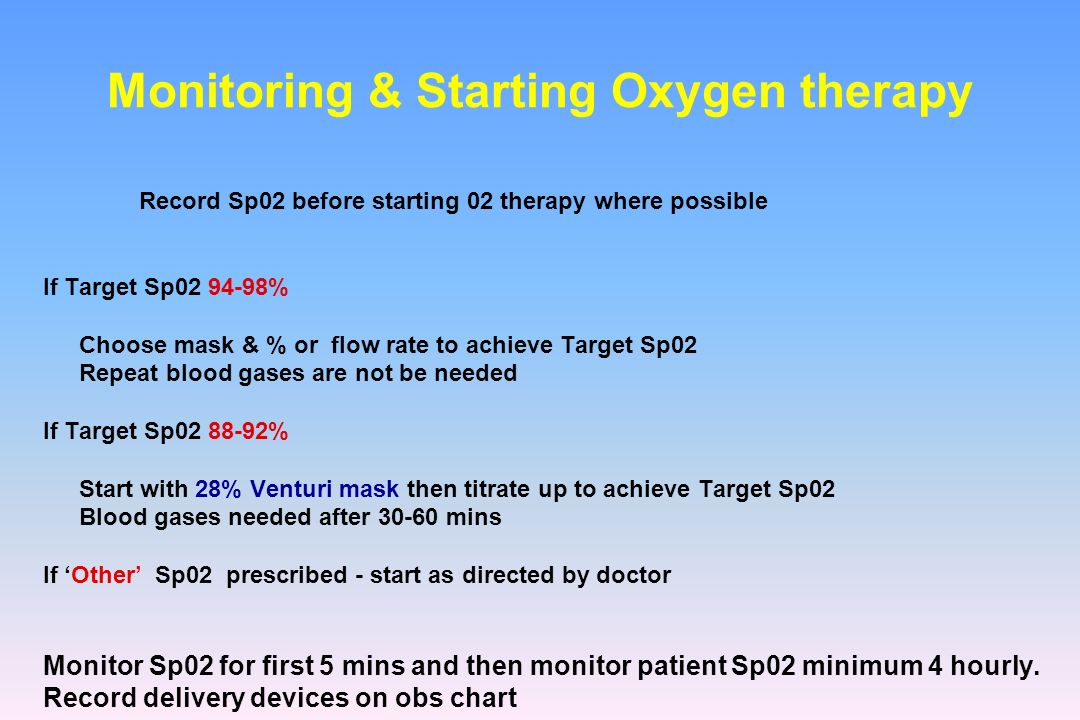 Monitoring & Starting Oxygen therapy
