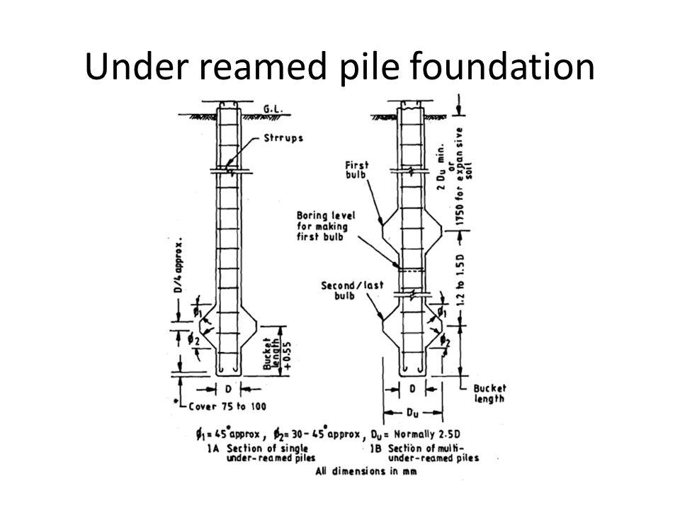 Under reamed pile foundation ppt