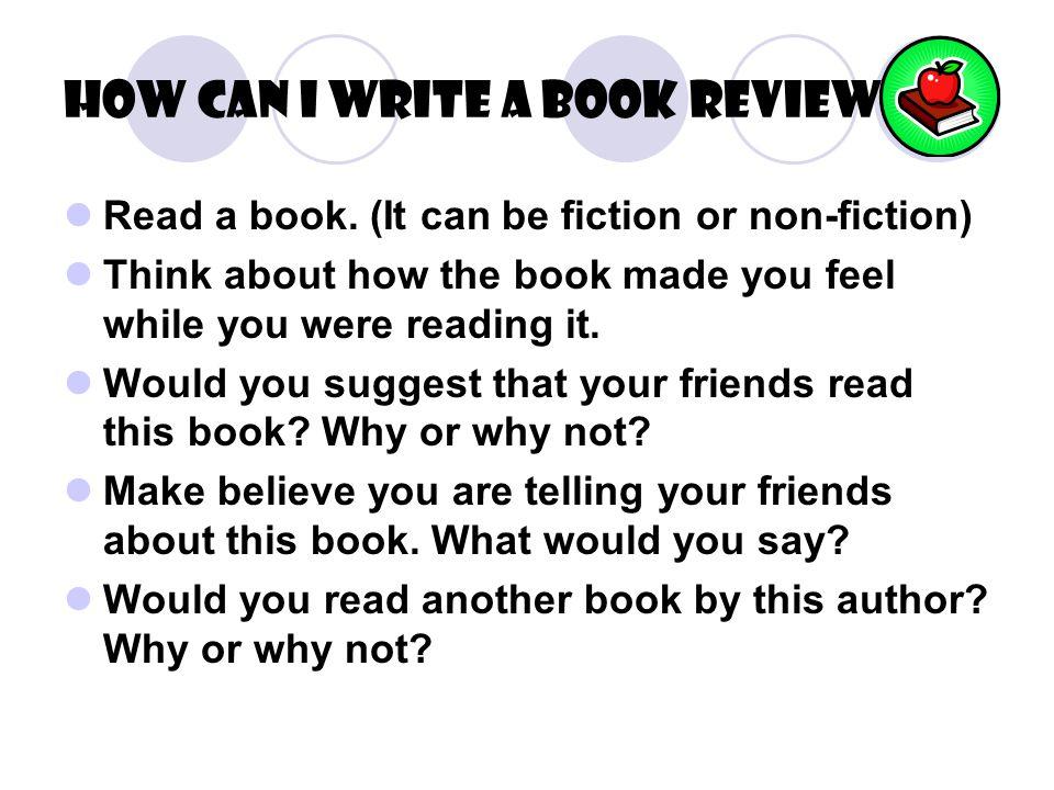 how do you do a book review