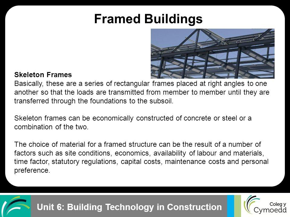 Framed Buildings Plane Frames Space Frames Skeleton Frames. - ppt ...