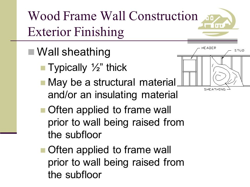 Exterior Wall Sheathing Thickness on exterior wall types, exterior brick veneer thickness, exterior wall plywood thickness, typical exterior wall thickness, shingles thickness,