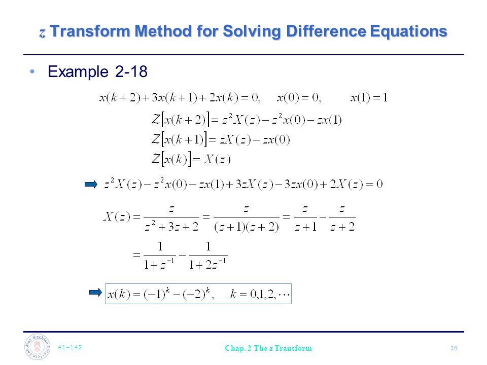 Chapter 2 The z Transform  - ppt video online download