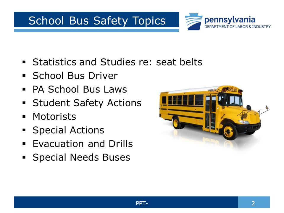 School Bus Safety Bureau Of Workers Compensation Ppt